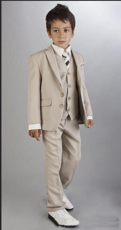 Boys Grey Suit Communion Suit First Communion Red Chalice