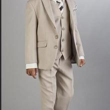 Boys Grey Suit Communion Suit First Communion Red Chalice Ti