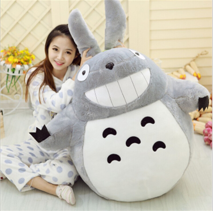 Hot Sale 45CM Famous Cartoon Totoro Plush Toys Smiling Soft Stuffed Toys High Quality Dolls For Kids Girlfriend 1pcs 40cm 50cm hot sale japan rain umbrella totoro dolls stuffed plush toys dolls children gifts