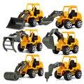 6 стилей мини литые под давлением пластиковые строительные машины инженерные автомобили экскаватор модель игрушки для детей подарок для ма...