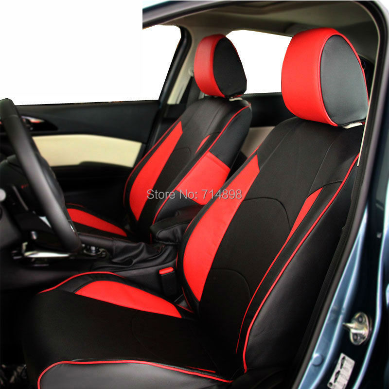 Leather Car Seat Cover 7 Pu Faux Imitation Custom Set Ful Bucket Interior Accessory Protect Auto Covers In Automobiles