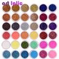 40Pcs/Set Nail Glitter Mix Colors Nail Art Fine Glitter Powder Dust UV Gel Polish Acrylic Nail Tips DIY Decoration Tools