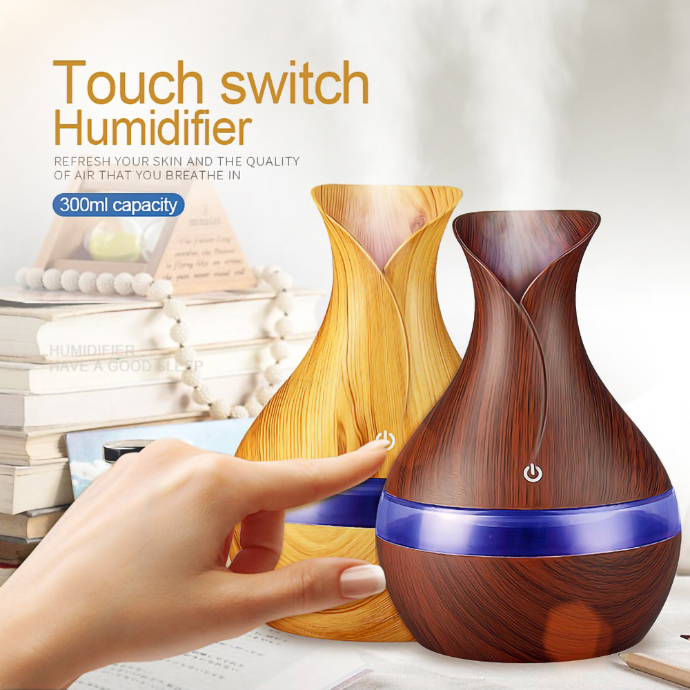 Usb Essential Oils For Aromatherapy Diffusers Humidificador Air Humidifier Wood Grain Essential Oil Diffuser Mist Maker Fogger