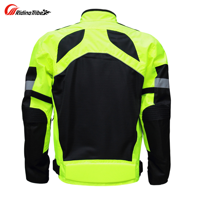 Motorbike reflective Night clothes jacket Motorcycle protective gear pads jackets Riding racing summer pants clothing 2