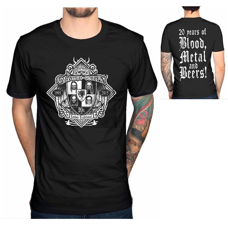 2018 Fashion Official Orange Goblin 20 Percent T-Shirt Metal Band Haunted Kingdom Merchandise Casual Short Sleeve Shirt Tee