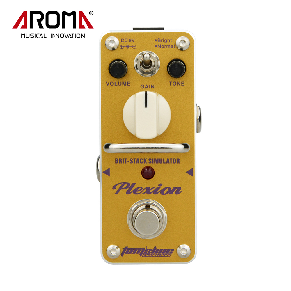AROMA APN-3 Plexion Brit-Stack Simulator Electric Guitar Effect Pedal Mini Single Effect Pedal aroma apn 3 plexion brit stack simulator guitar effect pedal dc9v power supply with true bypass guitarra parts one free cable