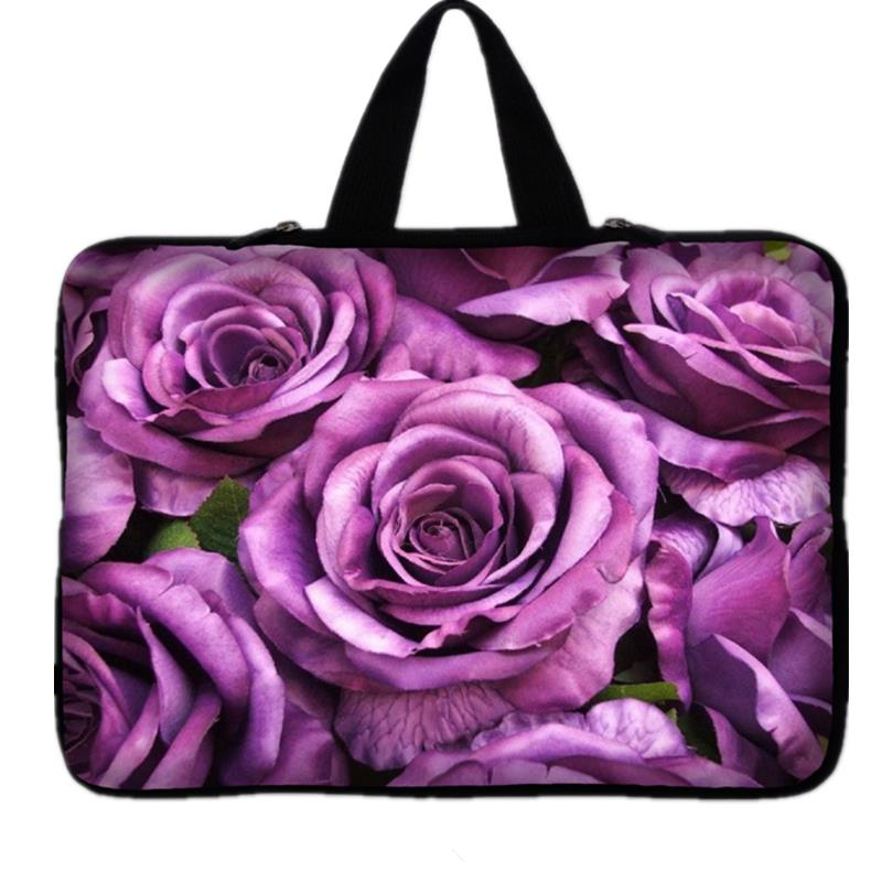 Waterproof Flowers Laptop Sleeve Neoprene Notebook Case Carrying Handle Bag For Macbook Air/Pro/Retina For HP Dell Asus Acer