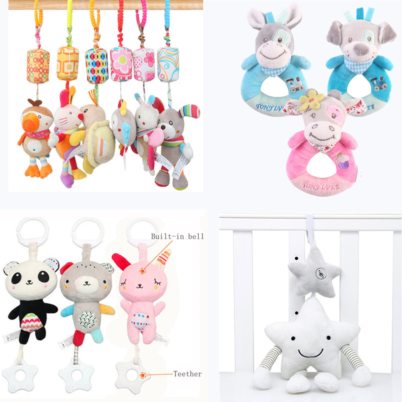 Baby Toys 0-12 Month Soft Animal Plush Toy Crib Newborn Babies Bed Educational Toys Kids Rattles For Stroller Car Seat Toy