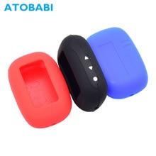 ATOBABI B95 силиконовый чехол для ключей ЖК-пульт дистанционного управления Fob оболочка Крышка для Starline B94 B64 B95 B92 B62 двухсторонняя Автомобильная охранная сигнализация