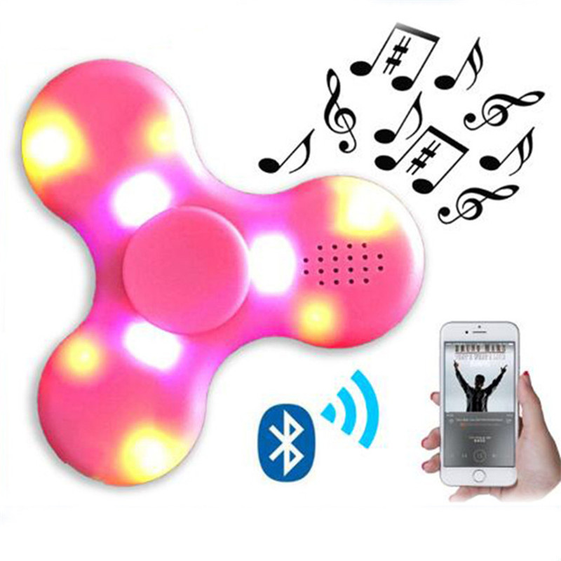 Fidget Spinner Bluetooth Speaker LED toy Tri Fidget EDC Hand Spinner anti stress Fluorescent For adult