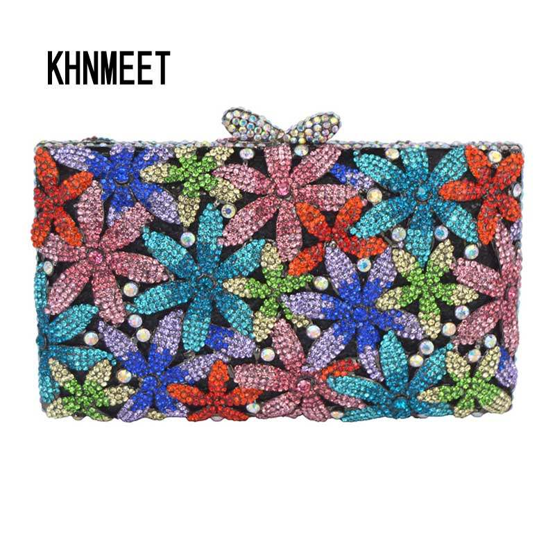LaiSC Multi Colors Luxury Wedding Bag Garden Party Bag Diamond Wallet  Evening Crystal Clutch Bag Female 51d441765a2f