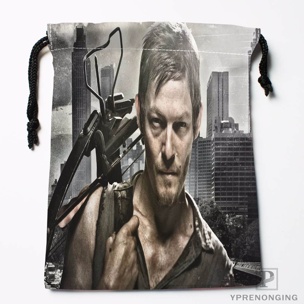 Custom Daryl Dixon Drawstring Bags Printing Fashion Travel Storage Mini Pouch Swim Hiking Toy Bag Size 18x22cm#180412-11-11