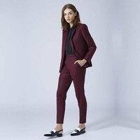 New Grape womens business suits 2 piece blazer set slim fit female trouser suits ladies office uniform elegant pant suits