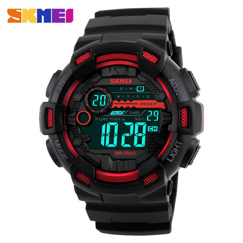 SKMEI Luxury Brand Men Sports Watches Led Sport Wristwatches 50m Water Resistant Relogio Masculino For Mens Digital Watch 2017