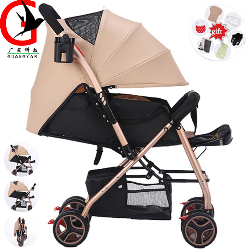 Baby Throne Baby Stroller Portable Can Sit And Lie Down Folding baby car Portable Baby Carriage Folding umbrella Stroller aulonstrollers can sit lie lightweight portable folding baby four summer and winter pocket umbrella stroller free shipping