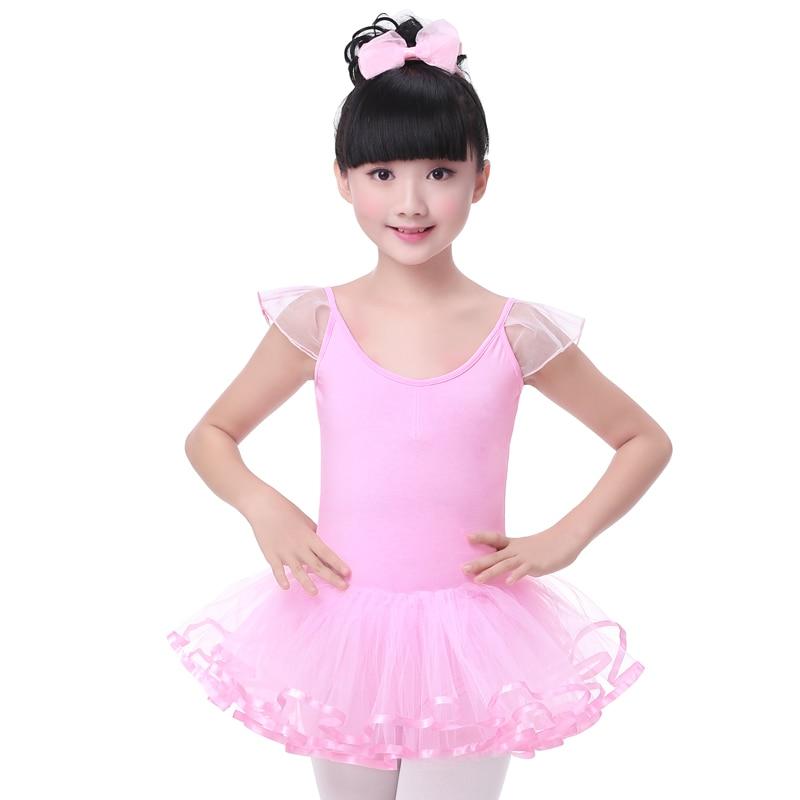 ebb43e7435f3 Classical Ballet Tutu Dancewear Children Girls Sleeveless Back Cross Pink  Dance Princess Dress Kids Leotard Ballerina Dress-in Ballet from Novelty &  Special ...