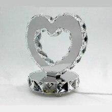 Современные шампуня, крема, лосьона настольные лампы высокой мощности 18 W нержавеющая сталь Кристалл Настольные лампы Лучший подарок для свадьбы и романтика лампы