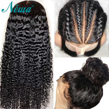 Newa Hair Fake Scalp Wig Brazilian 370 Lace Frontal Wigs Pre Plucked With Baby Hair Remy Curly 13x6 Lace Front Human Hair Wigs - DISCOUNT ITEM  40% OFF All Category