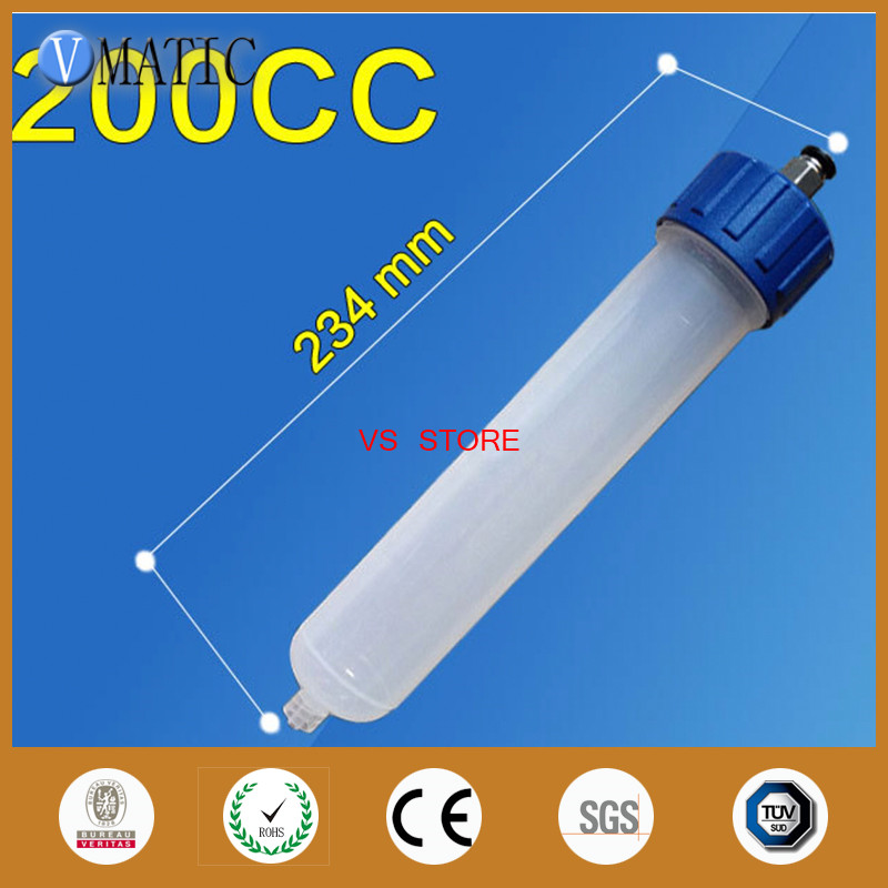 NEW Thickening explosion-proof 200CC Helix Luer Lock Tip Dispenser Syringe Barrel w Adapter Free Shipping
