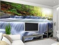 3d nome carte da parati 3d tridimensionale natura paesaggio di cascata wallpaper per il 3d Decorazione Della Casa