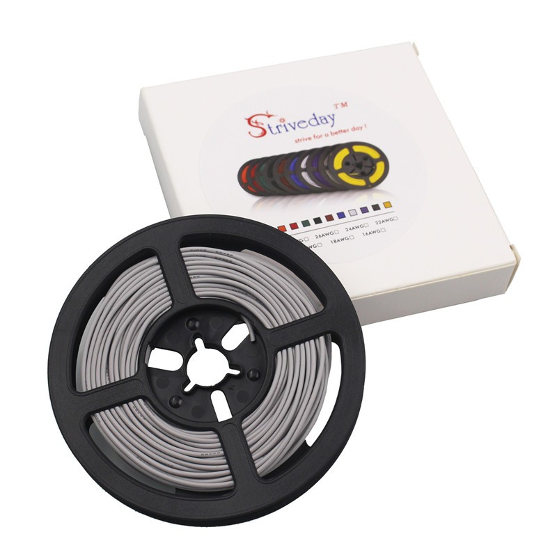 20 m 12AWG flexible de silicona de alambre de cobre estañado trenzado de alambre/680/0.08TS diámetro exterior de 4,5mm 3,4mm alambre y cable - 3