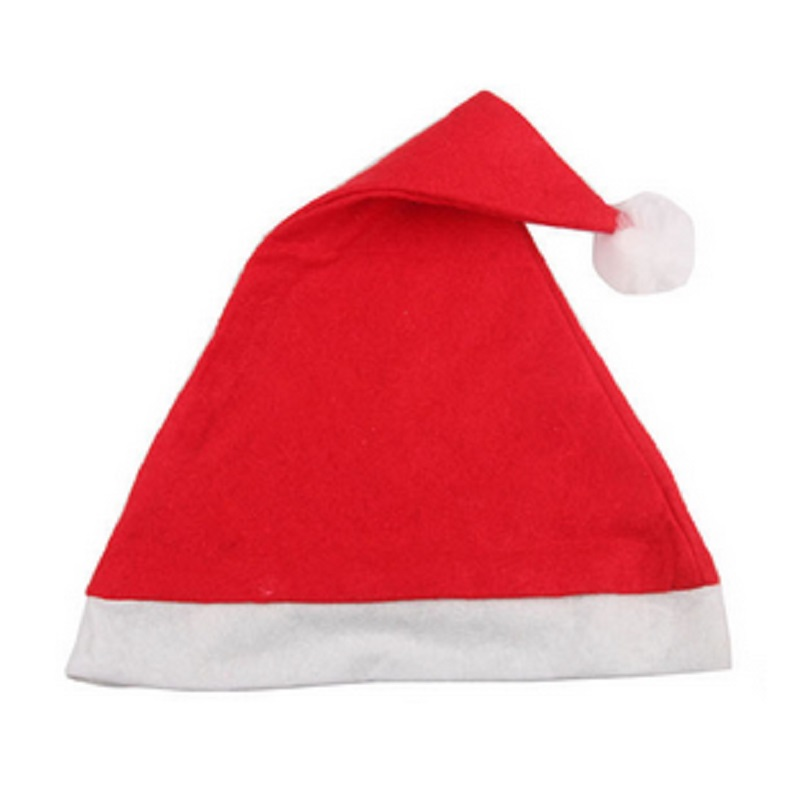 2pcs/lot Non-woven Fabric Adult Children Christmas Cap Christmas Decorations Christmas Hat 28x36cm And 25x35cm