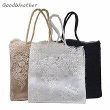 Bolso pequeño de diseño de encaje con estampado de flores para fiesta de boda, 2 tamaños, 4 colores, bolso de mano floral para mujer, bolsos vintage de lujo de alta calidad para mujer