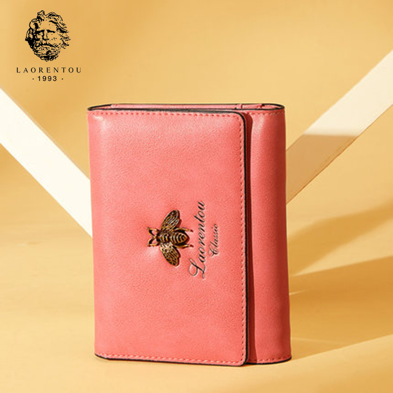 цены LAORENTOU Retro Multi-Function Wallets Split Leather Wallet Lady Wallet Fashion Women Wallets Simple And Stylish Women Purse