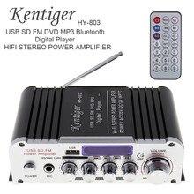 Kentiger 2CH Hi-Fi Bluetooth автомобильный аудио усилитель мощности fm-радио плеер Поддержка SD USB DVD MP3 вход для автомобиля мотоцикла дома