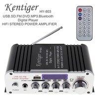 HY 803 2CH HI FI Bluetooth Car Audio Power Amplifier FM Radio Player Support SD USB