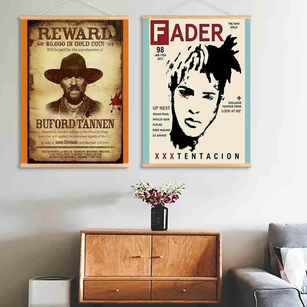 Poster Seni Dekorasi Kid Cudi Rap Hot Singer Star Gambar Cetak Dekorasi Dinding Kanvas Lukisan Dekorasi Ruang Tamu 24x36in
