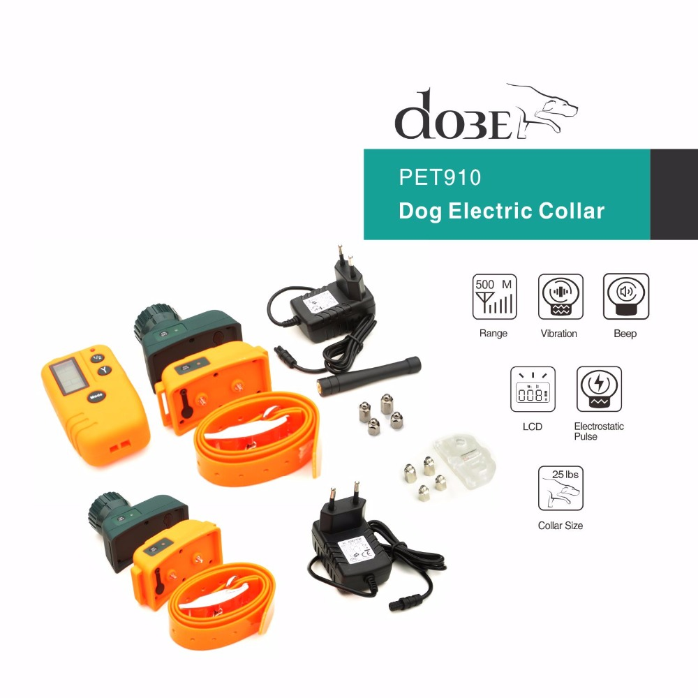 Dog Trainer Beeper Collar Dog Training Collar Anti Bark for 2 Dogs 1000M Remote Control Pet