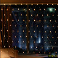2Mx3M 200LED Curtain Net Lights LED web light mesh fairy lights for christmas/ Xmas/Wedding party decoration-Warm white