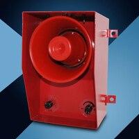 TGSG 06D DC/AC12V 380V Metal Buzzer 130dB Alarm For Passenger Car Ship Industrial Crane Warehouse Siren & Volume Adjustable