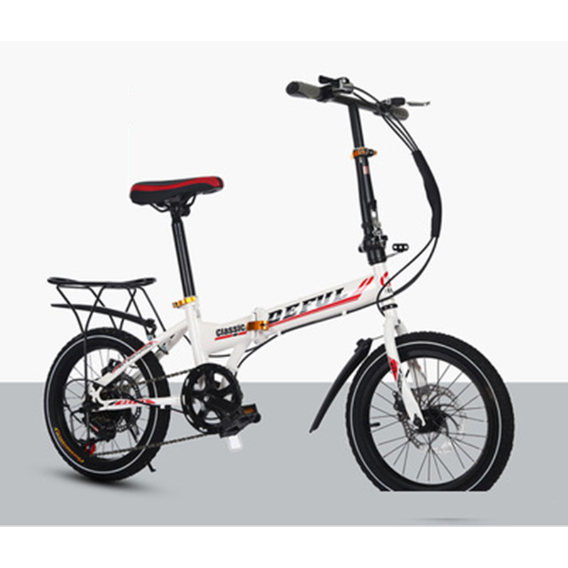 Bicycles New 20-Inch Folding Speed-Change Bicycle Men And Women Bicycle Students Take The Place Of Bicycle Disc Brake Bicycle