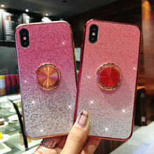 360 finger Ring stand Case for iphone XS Max X iphone 7 8 plus magnet kickstand Coque Cover for iphone 6 6s plus iphone XR Case mercury goospery i jelly finger ring kickstand tpu shell for iphone 7 plus 5 5 red