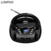 LONPOO Bluetooth CD-плеер Бумбокс Портативный USB стерео Бумбокс сабвуфер Динамик с FM радио AUX наушников бумбокс