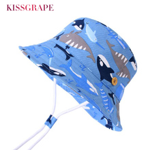 Baby Boy Cotton Bucket Hat Kids Cartoon Animals Bob Cap Panama Wide Brim Beach Hats Childrens Outdoor Foldable Sun 1-7