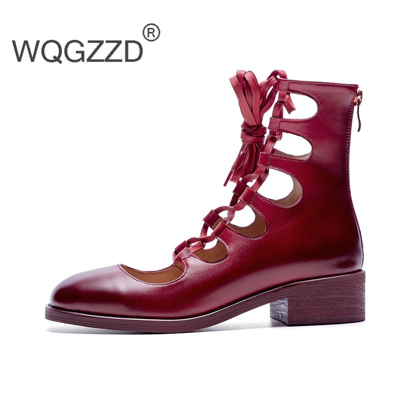 Marque Oxford Bout Cuir Croix attaché Rond Black En red Zapatos Chaussures Plates Mocassins Femmes Mujer Luxe De Occasionnels Vache Yf6v7ybg