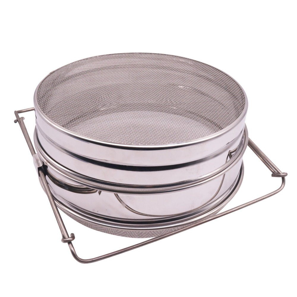 1 pcs Honey Filter Stainless Steel Double Filter Mesh Honey Filter Expandable Filter Beekeeping Tools Independent Screen Durable