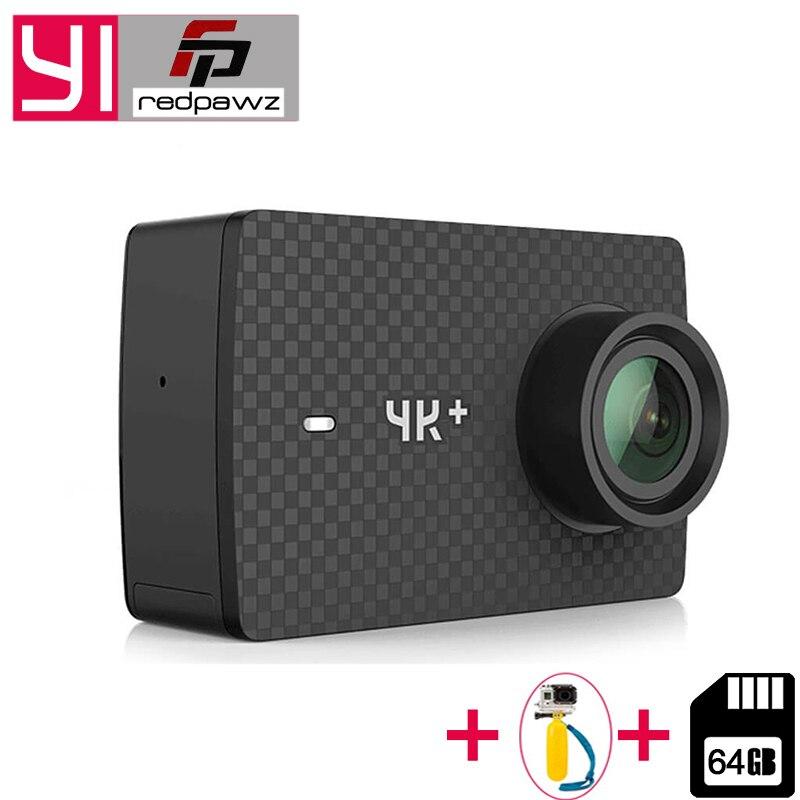 64 ГБ SD карты для Xiaomi YI 4 К ПЛЮС Действие Камера 2,19 'Ambarella H2 для SONY IMX377 12MP 155 градусов 4 К + спортивные Камера сенсорный экран