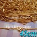 100 unids 45 cm de longitud de Oro Chapado En cadena de La Serpiente collar enlace joyería del conectador DIY accesorios de los resultados