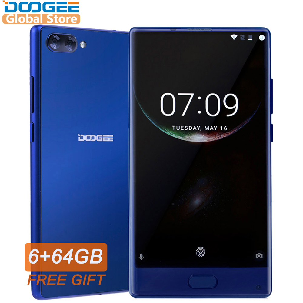 DOOGEE MIX Original Smartphone Android 7.0 Dual Câmeras 5.5 Polegada Helio 6 GB + 64 GB LTE Octa Núcleo MTK p25 4G telefone 3380 mAh móvel