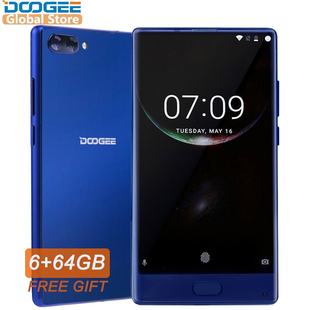 DOOGEE MIX Smartphone Original Android 7.0 double caméras 5.5 pouces MTK Helio Octa Core 6 GB + 64 GB LTE 4G téléphone mobile 3380 mAh P25