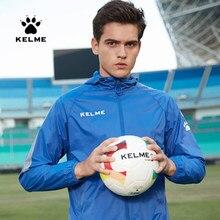 KELME-Chaqueta para ejercicio deportiva para hombre, con capucha, a prueba de viento, para correr, fútbol, entrenamiento, con cremallera, 3881211