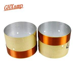 Image 1 - GHXAMP 77 мм стандартная звуковая катушка с вентиляционным отверстием, белая алюминиевая 2 слойная круглая медная проволока, запасные части, 2 шт.