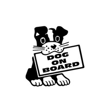 16cm*16.4cm Dog On Board Decal Puppy Pet Love Funny Personality Vinyl Car Sticker