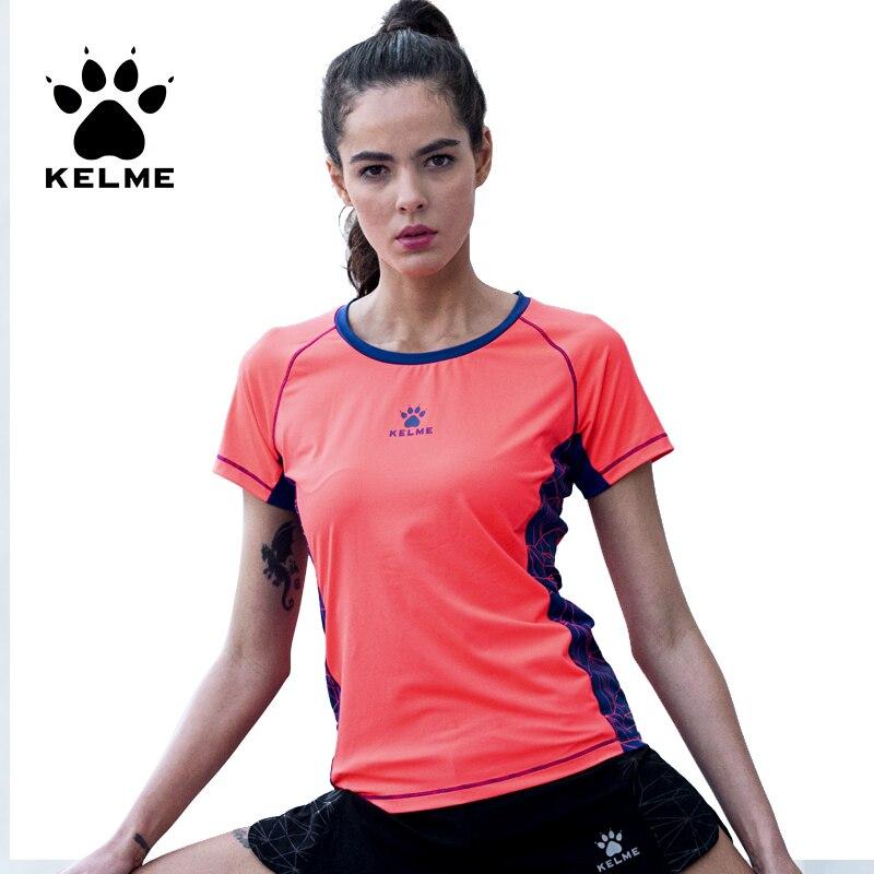 2017 KELME Women Top Quick Dry Yoga Shirts Breathable Running Exercises Fitness Short Sleeve Gym Sports