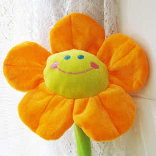 Plush toy bouquet cartoon smiling sunflower curtain buckle sunflower baby bed to hang the wedding gift