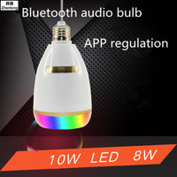 E27 Smart RGB RGBW Wireless Bluetooth Speaker Bulb Music Playing Dimmable LED Bulb Light Lamp APP Control Home Music Lights
